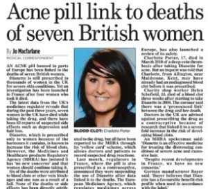 dianette acne pill death